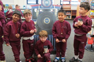 "Kindergarten Students take a ride on ""The Polar Express"" at St. Joseph-St. Robert School (Bucks County)"